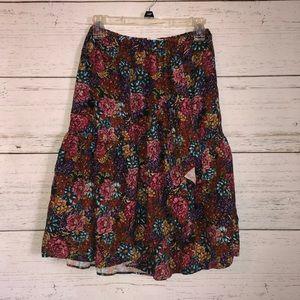 Zara Girls Floral Ruffle Wrap Skirt - 11/12
